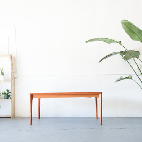 Danish Teak Expandable Dining Table by Henning Kaerjnulf