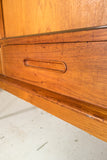 Danish Teak Highboard on Tapered Legs