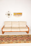 Teak Sofa, Chair and End Table Set
