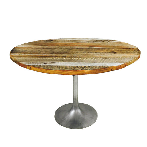 Tulip Table with Reclaimed Barnwood Top