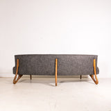 Rare Mid Century Modern Cloud Style Sofa with Sculpted Legs