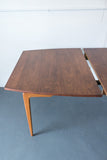 "Mid Century Modern Walnut ""Floating Top"" Dining Table"