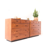 Walnut Highboy Dresser on Plinth Base (priced separately)