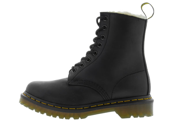 Dr Martens Womens 1460 Serena Black Burnished Wyoming