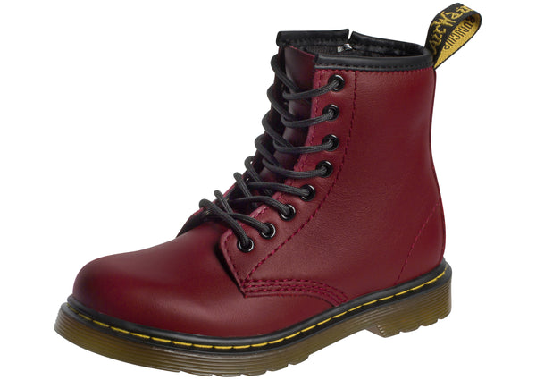 Dr Martens Childrens Delaney Cherry Red