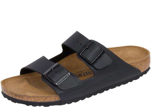 Birkenstock Womens Arizona Birko Flor Black