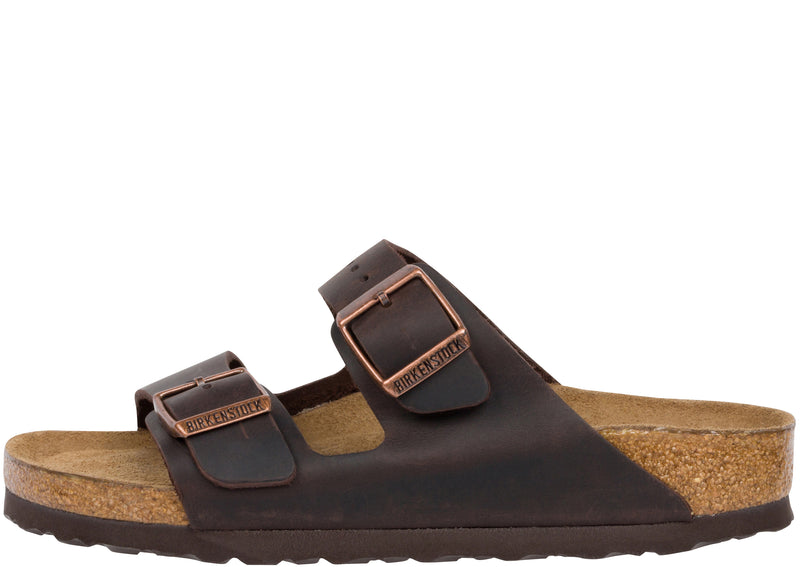 Birkenstock Womens Arizona Soft Oiled Leather Habana