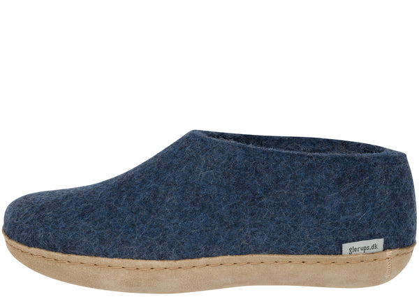 Glerups The Shoe With Leather Sole Denim