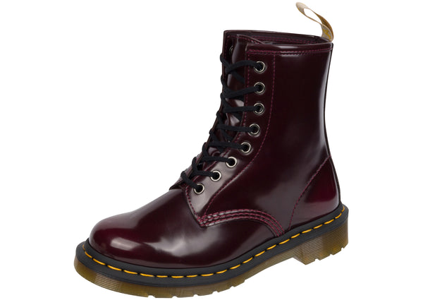 Dr Martens Vegan 1460 Cambridge Brush Cherry Red