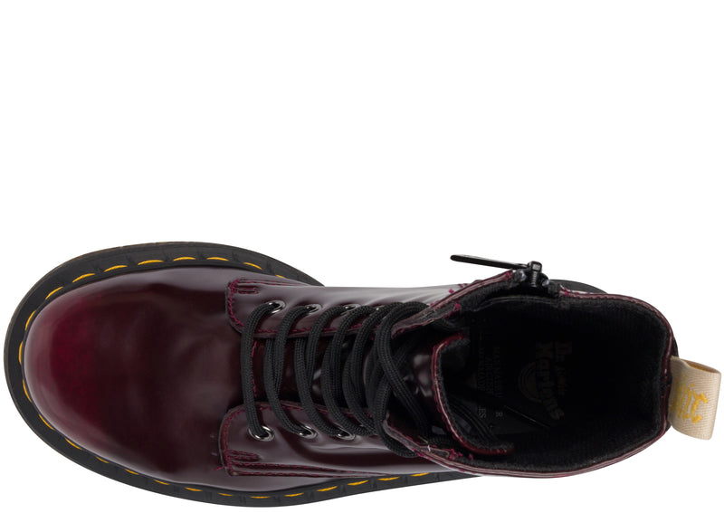 Dr Martens Vegan Jadon II Cambridge Brush Cherry Red