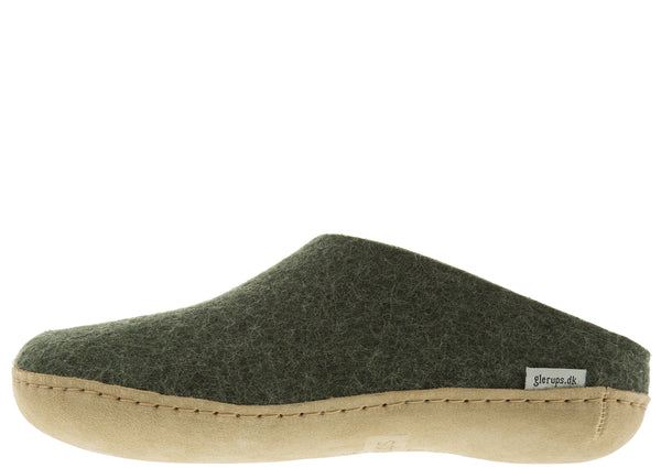 Glerups The Slip-On With Leather Sole Forest