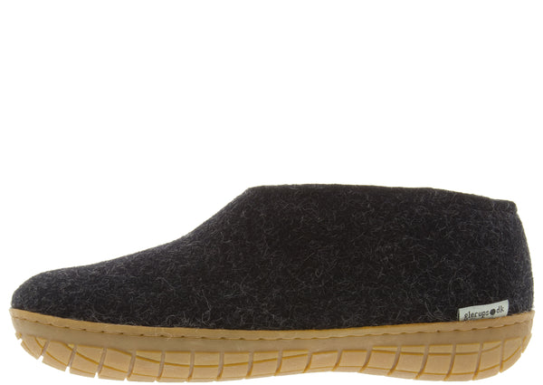 Glerups The Shoe With Honey Rubber Sole Charcoal