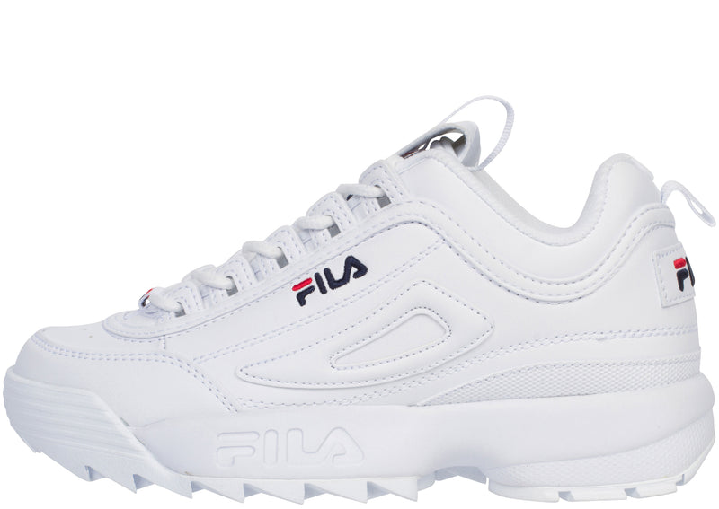 FILA Kids Disruptor II White Navy  Red