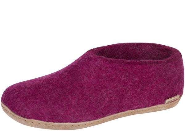 Glerups The Shoe With Leather Sole Cranberry
