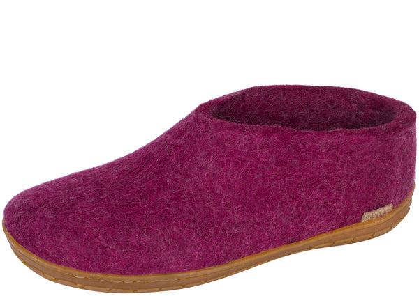Glerups The Shoe With Honey Rubber Sole Cranberry