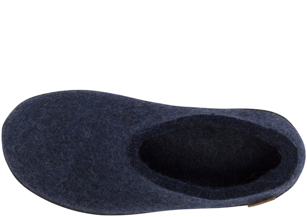 Glerups The Shoe With Black Rubber Sole Denim