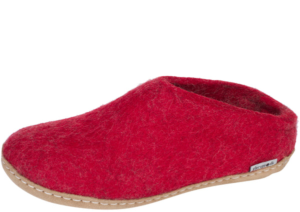Glerups The Slip-On With Leather Sole Red