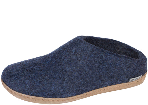 Glerups The Slip-On With Leather Sole Denim