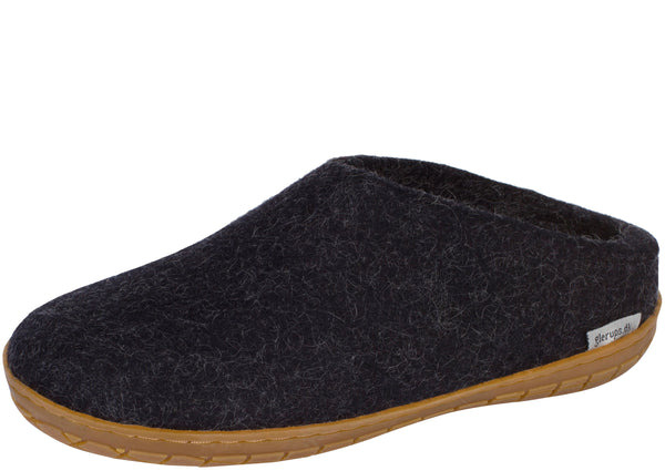 Glerups The Slip-On With Honey Rubber Sole Charcoal
