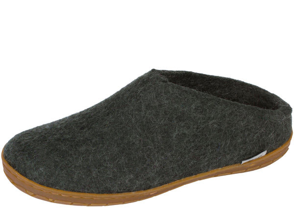 Glerups The Slip-On With Honey Rubber Sole Forest