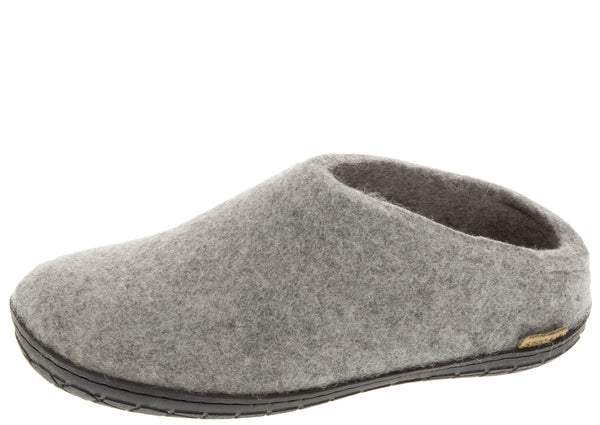 Glerups The Slip-On With Black Rubber Sole Grey