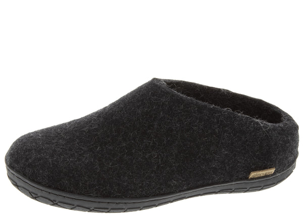 Glerups The Slip-On With Black Rubber Sole Charcoal