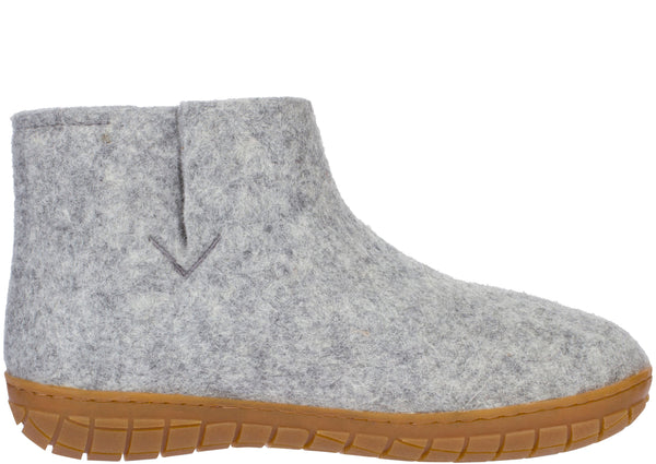 Glerups The Boot With Honey Rubber Sole Grey