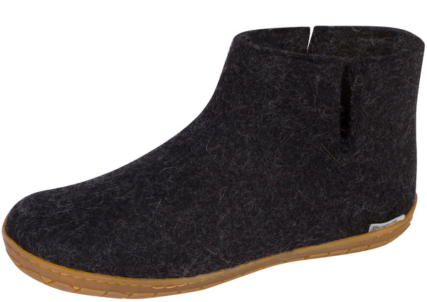 Glerups The Boot With Honey Rubber Sole Charcoal