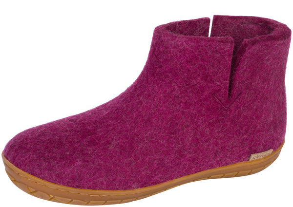 Glerups The Boot With Honey Rubber Sole Cranberry