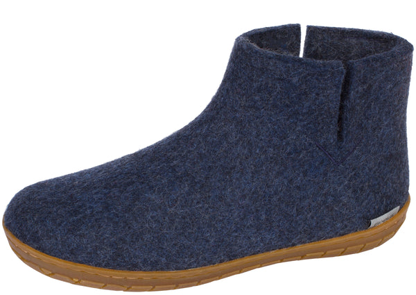 Glerups The Boot With Honey Rubber Sole Denim
