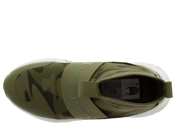 Champion Womens Rally Print Metallic Cargo Olive