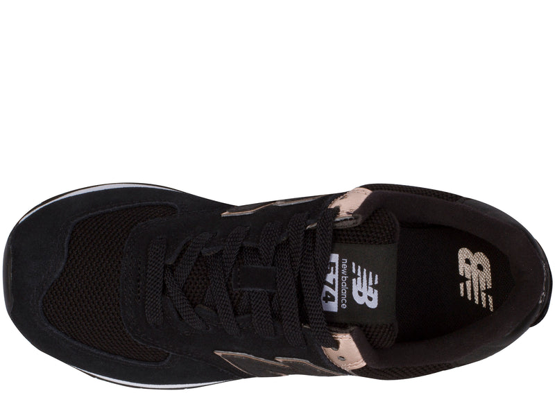 New Balance Womens 574 Black Rose