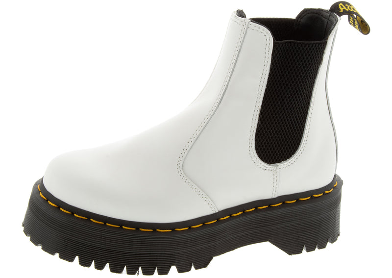 Dr Martens 2976 Quad White Smooth
