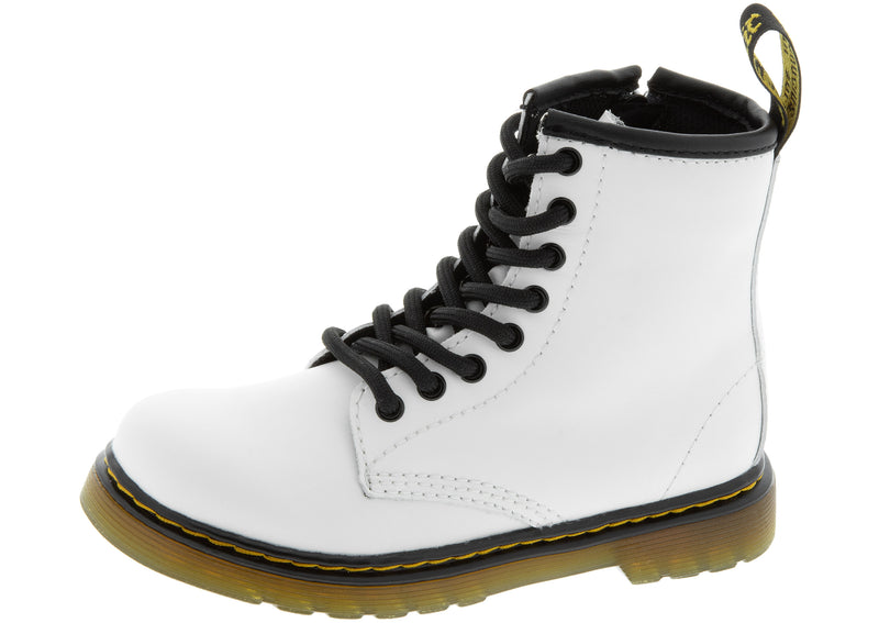 Dr Martens Childrens 1460 Romario Smoother Leather  White