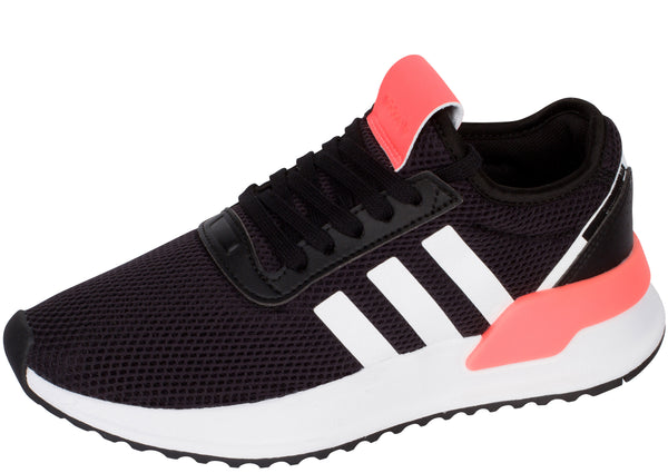 adidas Kids U Path X Black White Signal Coral