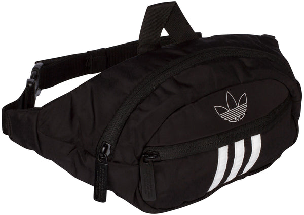 adidas Original National 3 Stripe Waist Pack Black White