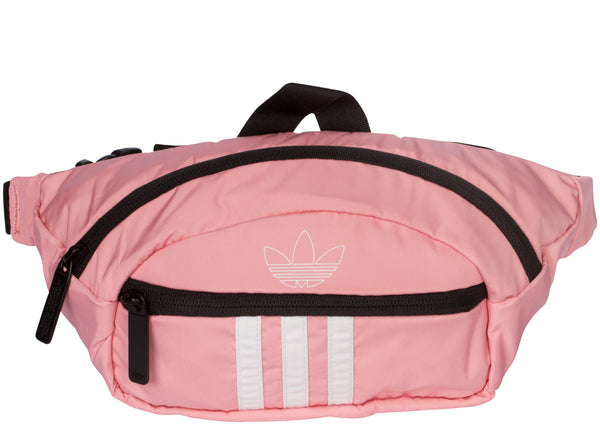 adidas Original National 3 Stripe Waist Pack Glory Pink White