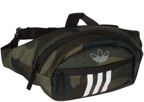 adidas Original National 3 Stripe Waist Pack Adi Camo White