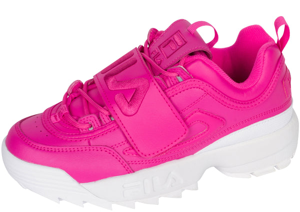 FILA Womens Disruptor II Applique Magenta Magenta White