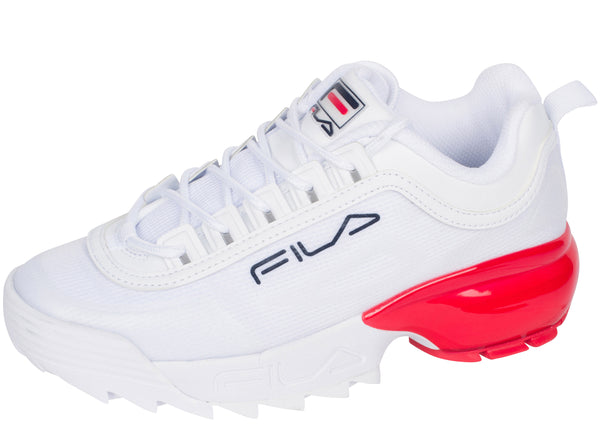 FILA Womens Disruptor 2A White Fila Navy Fila Red