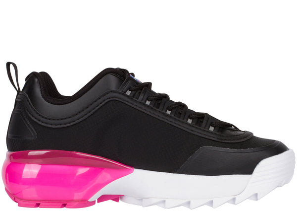 FILA Womens Disruptor 2A Black White Magenta