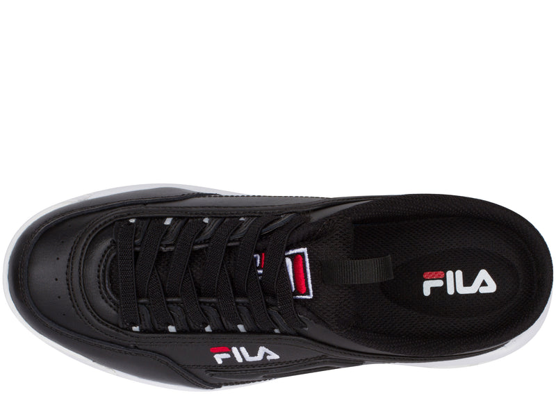 FILA Womens Disruptor II Mule Black White Fila Red