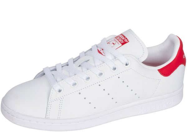 adidas Stan Smith White White Lush Red