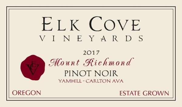 Elk Cove Mount Richmond Pinot noir 2017