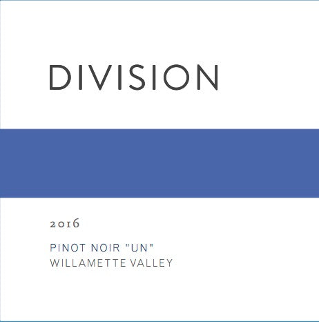 Division Willamette Valley Pinot noir Un 2018