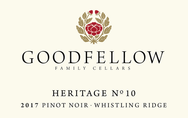 Goodfellow Heritage No. 10 Whistling Ridge Pinot noir 2017