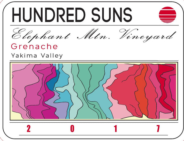 Hundred Suns Elephant Mountain Vineyard Grenache 2017