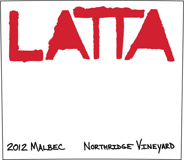 Latta Malbec Northridge Vineyard 2012