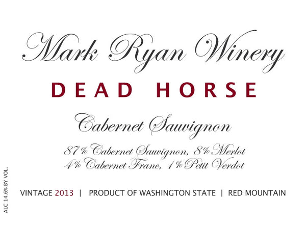 Mark Ryan Dead Horse Red 2014