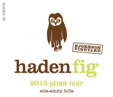 Haden Fig Bjornson Vineyard Pinot noir 2015